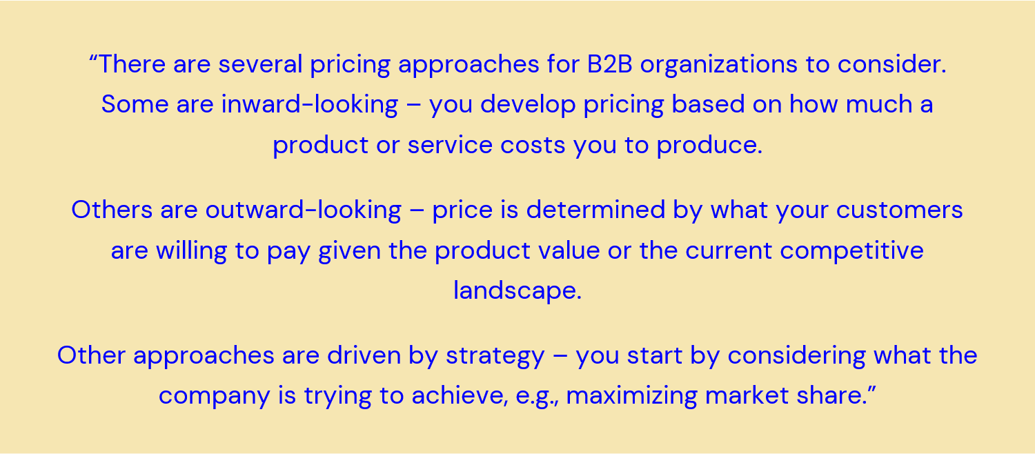 pricing strategy quote